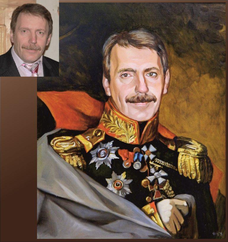 Настоящий портрет маслом на заказ во Владимире…