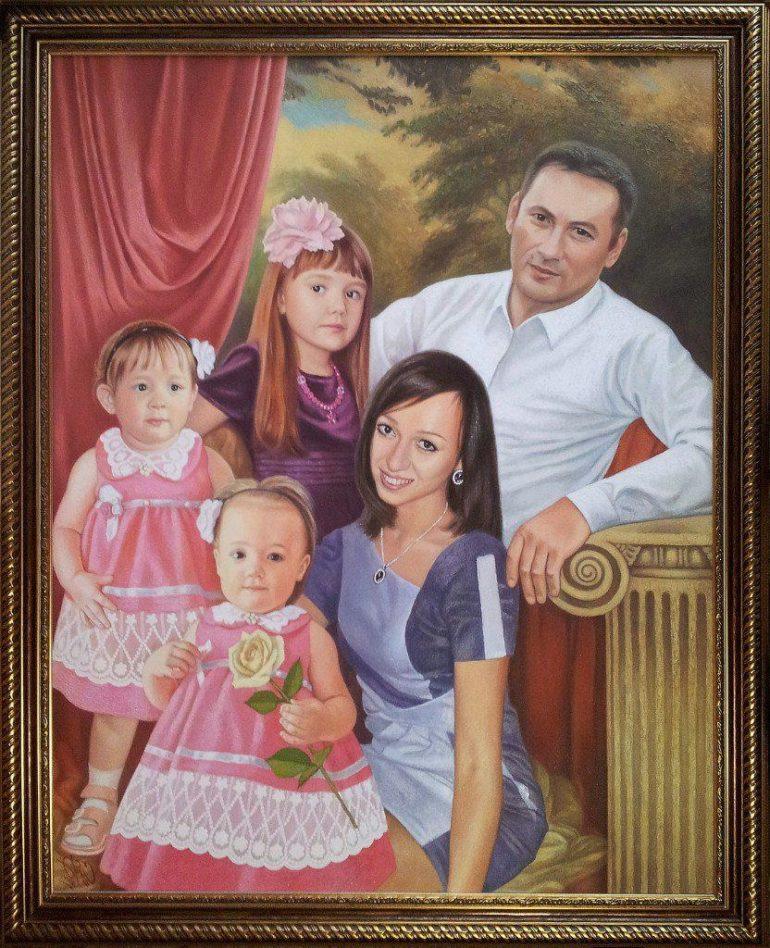 Семейный портрет маслом во Владимире — правильная традиция…