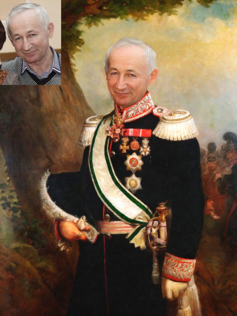 Где заказать исторический портрет по фото на холсте в Владимире?