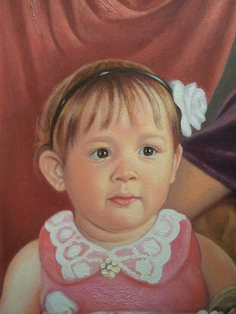 Портрет маслом семейный Владимир