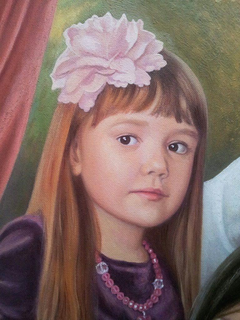 Семейный портрет на холсте Владимир