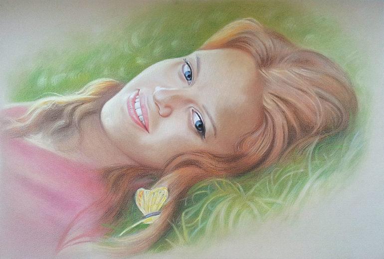 Настоящий портрет пастелью для любимой девушки во Владимире, просто и со вкусом!