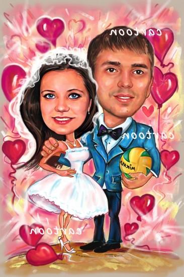 Свадебный шарж с оригинальным сюжетом во Владимире!