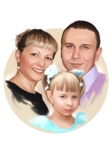 Семейный портрет по фото на холсте во Владимире — правильный подарок!