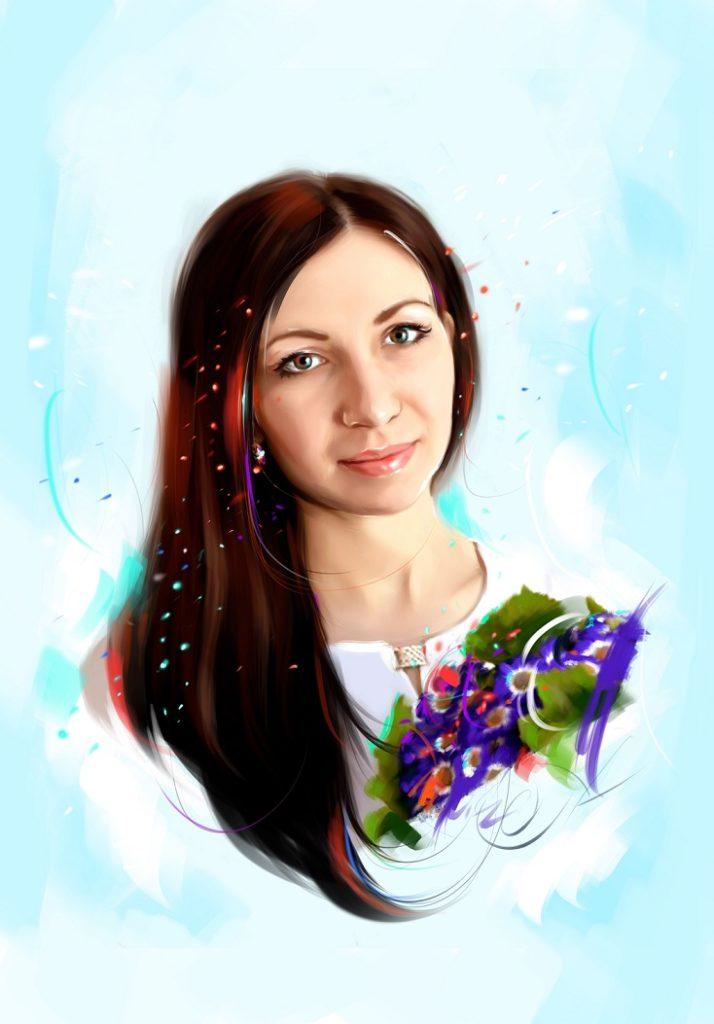 портрет подруге