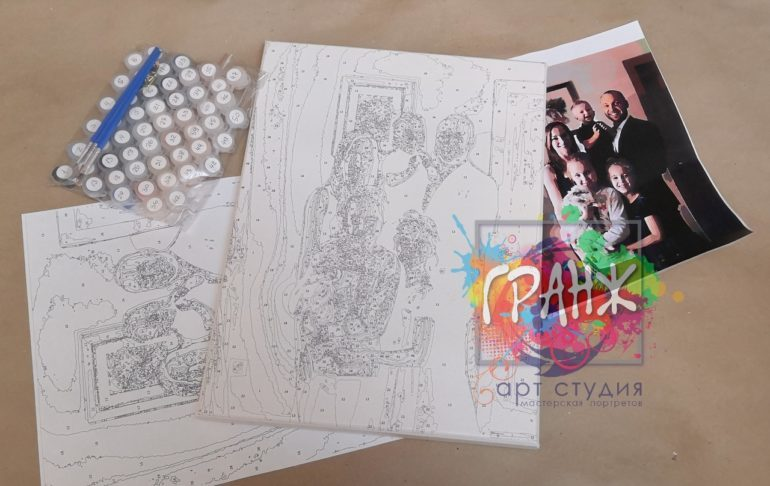 Картина по номерам по фото, портреты на холсте и дереве во Владимире